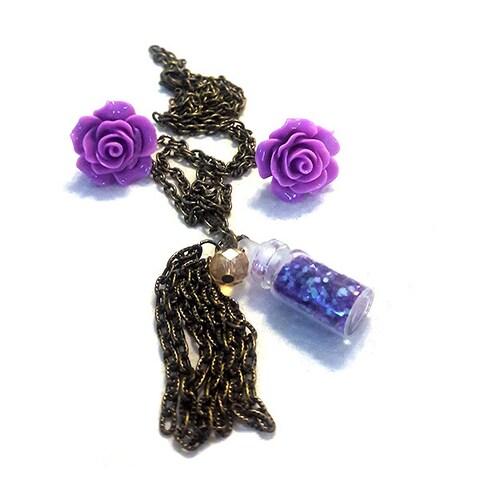 Women's Tassel Necklace Jewelry Set