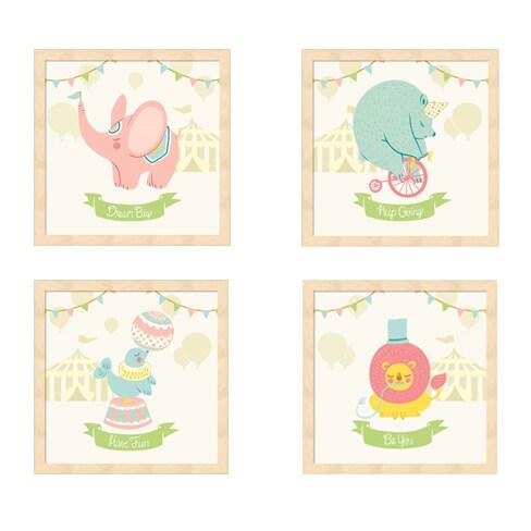 Shop Cleonique Hilsaca \'Little Circus Animals (Pastel)\' Beechwood ...