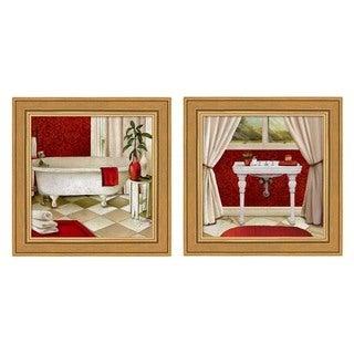 Elizabeth Medley 'Red Bain' Framed Art (Set of 2)