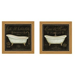 Daphne Brissonnet 'Bain De Luxe' Framed Art (Set of 2)