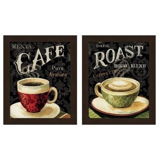Lisa Audit 'Today's Coffee' Framed Art (Set of 2)