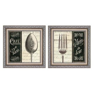 Pela Studio 'French Menu' Framed Art (Set of 2)