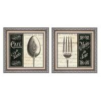 Pela Studio 'French Menu' Framed Art (Set of 2) - Black