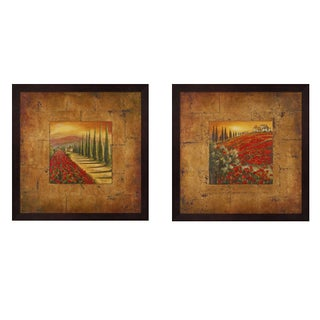 Patricia Pinto 'Bella Toscana' Square Wood Framed Art (Set of 2)