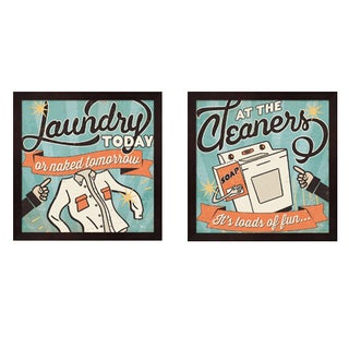 Pela Studio 'The Cleaners' 2-piece Framed Art Set