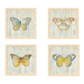 Danhui Nai 'Natural Flora' Framed Art (Set of 4)
