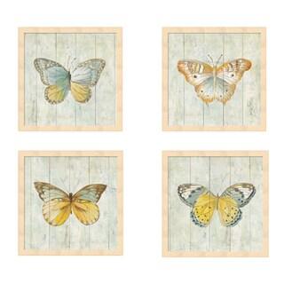 Danhui Nai 'Natural Flora' Framed Art (Set of 4)