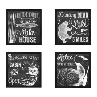 Color Bakery 'Lake House' Framed Art (Set of 4)