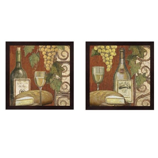 Art Licensing Studio 'Wine and Cheese Tasting' Framed Art (Set of 2)