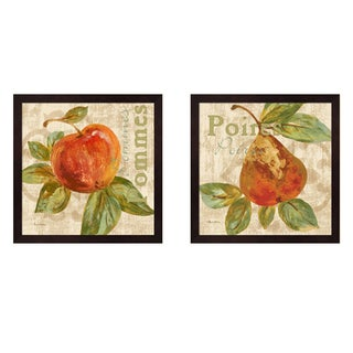 Pamela Gladding 'Rustic Fruit' Framed Art (Set of 2)