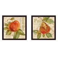 Pamela Gladding 'Rustic Fruit' Framed Art (Set of 2)