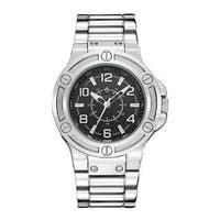 'Manis' Men's Quartz Oversized Stainless Steel Bracelet Watch 46mm by Timothy Stone
