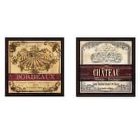 Tre Sorelle Studios 'Grand Vin Wine Label' Framed Art (Set of 2)