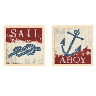 Wellington Studio 'Nautical Red' Framed Art (Set of 2)