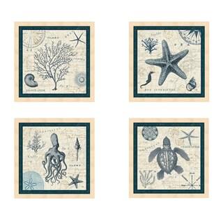 Pela 'Ocean Life' Framed Art (Set of 4)