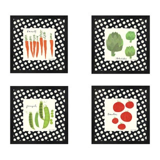 Susy Pilgrim Waters 'Simple Vegetables' Framed Art (Set of 4)