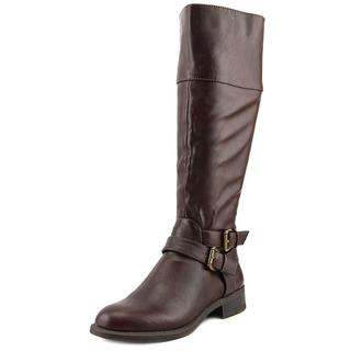 Nine West Women's 'Leorawm' Brown Leather Low-heel Knee-high Boots