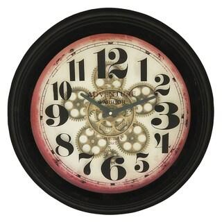 Adventure Warrior London 18-Inch Industrial Gear Round Wall Clock
