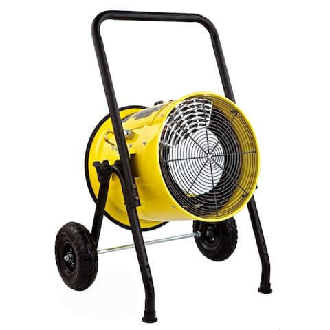Dr. Infrared Heater Salamander Construction 10000-Watt, Single Phase, 240-Volt Portable Fan Forced Electric Heater