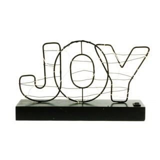 'Joy' Illuminated Christmas Sign