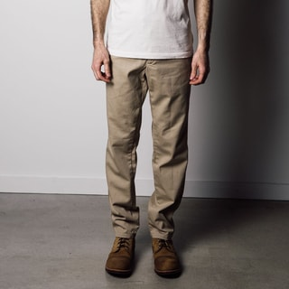 1791 Supply Co Men's Beige Cotton Chambray Coin-pocket Military Chino