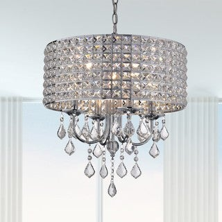 Link to Chione Metal Crystal 4-light Drum Chandelier Similar Items in Chandeliers