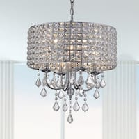Chione Metal Crystal 4-light Drum Chandelier