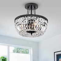Achenar Crystal 3-light Semi Flush Mount