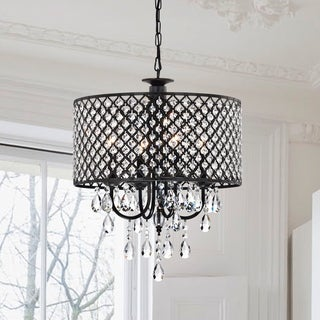 Pluto Crystal 4-light Dimmable Drum Chandelier
