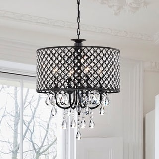 Link to Pluto Crystal 4-light Dimmable Drum Chandelier Similar Items in Chandeliers