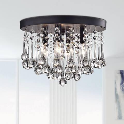 Scelene Crystal 4-light Flush Mount