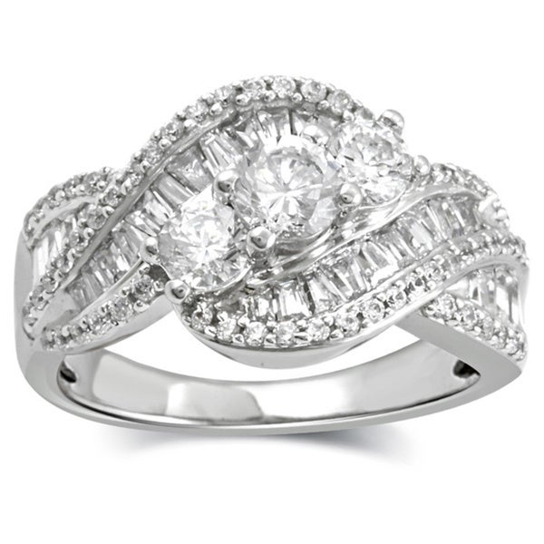 Shop 1.53 Carat Total Weight Diamond Anniversary Ring In