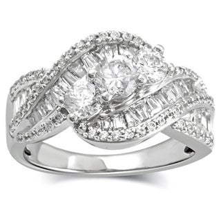 1.53 carat total weight Diamond Anniversary Ring in 10k White Gold
