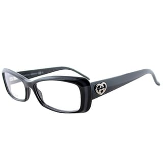 Gucci GG 3516 E6Q/15 Black Plastic 52-millimeter Rectangle Eyeglasses
