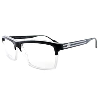 gucci matte black plastic 53 millimeter rectangle eyeglasses
