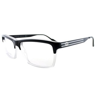 Gucci Matte Black Plastic 53-millimeter Rectangle Eyeglasses