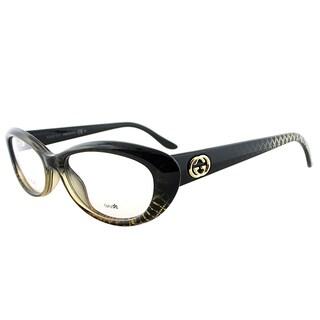 gucci gg 3566 w8h green plastic 52 millimeter cat eye eyeglasses