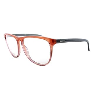 Gucci GG 3518 WVY/15 Transparent Brown Plastic 53-millimeter Round Eyeglasses