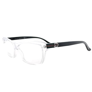 Gucci GG 3562 MNG/14 Crystal Plastic 53-millimeter Rectangle Eyeglasses