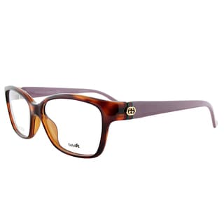 Gucci GG 3627 CRE Light Havana Brown Plastic 52-millimeter Square Eyeglasses