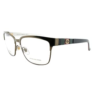 Gucci GG Bronze Metal Square Eyeglasses
