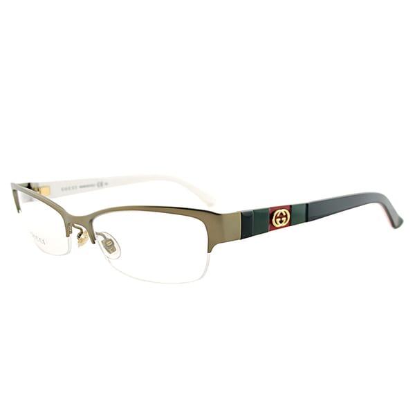 f46cd5258f Shop Gucci GG 4213 5L3 17 Bronze Metal Semi-Rimless Eyeglasses 53mm - Free  Shipping Today - Overstock.com - 13382029