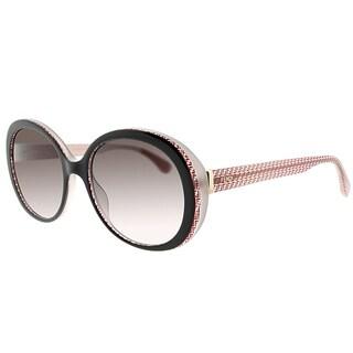 Fendi FF 0001 7PH/K8 Brown Red Plastic Round Brown Gradient Lens Sunglasses