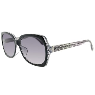 Fendi FF 0002/F 6ZV/EU Asian Fit Black Crystal Plastic Square Grey Gradient Lens Sunglasses
