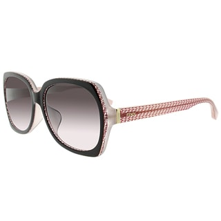 Fendi FF 0002/F 7PH/K8 Asian Fit Brown Red Plastic Square Brown Gradient Lens Sunglasses
