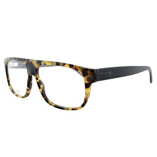 Gucci Light Havana Plastic Rectangle Eyeglasses