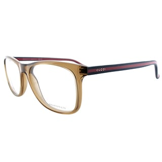 Gucci GG 1056 0WA_53 Transparent Brown Plastic 53-millimeter Rectangle Eyeglasses