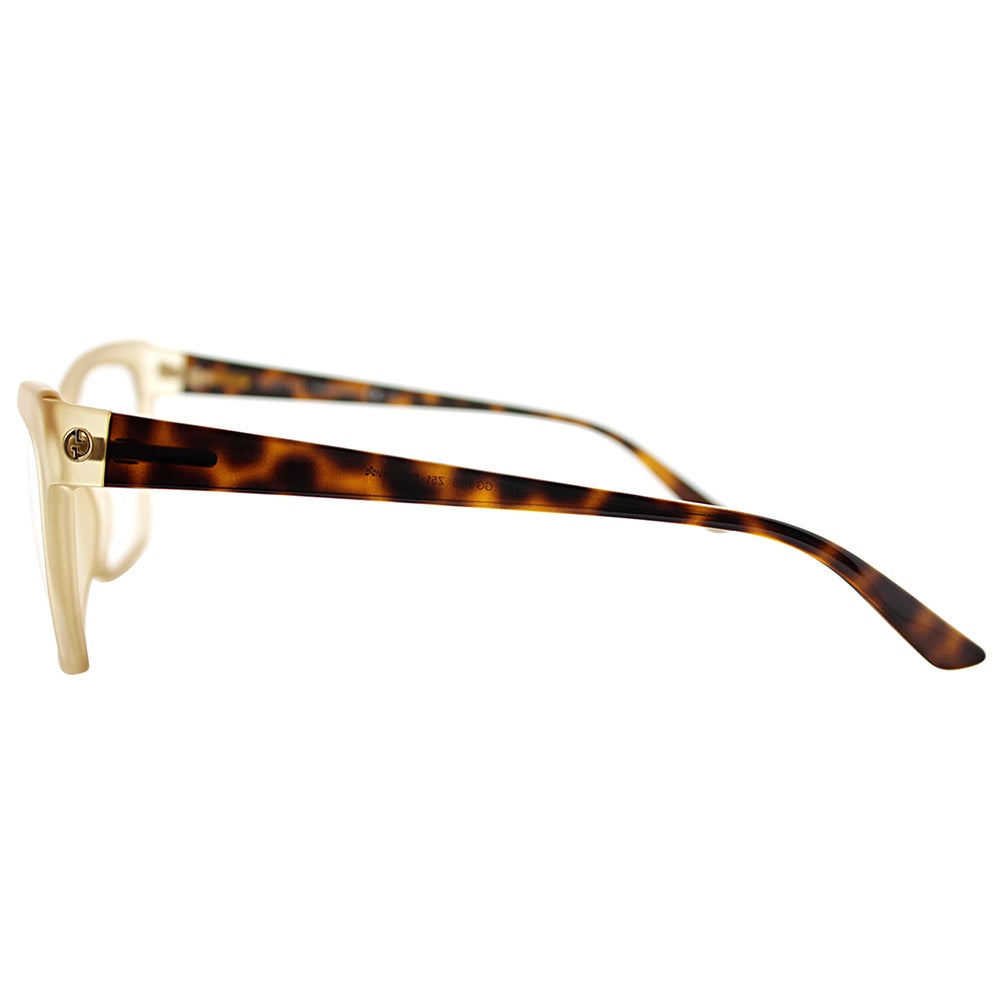 5b19cd13041d Shop Gucci GG 3195 Z51/13 Transparent Brown Plastic 55-millimeter Cat-eye  Eyeglasses - Free Shipping Today - Overstock - 13384511