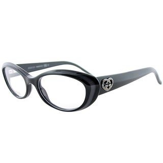 Gucci Black and Grey Plastic 51-millimeter Cat-eye Eyeglasses