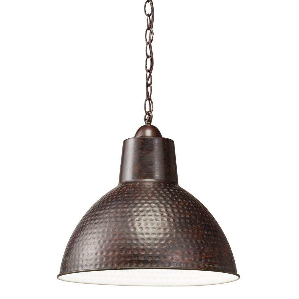 Shop Black Friday Deals On Kichler Lighting Missoula Collection 1 Light Bronze Pendant Overstock 13385597